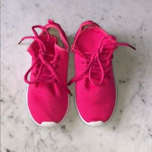 Link Hot Pink Sweater Girl's Sneakers Shoes 2